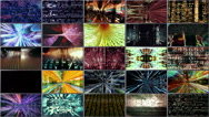 Streaming Data Video Wall 1001 HD, 4K Stock Video Stock Footage
