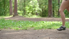 Strenuous Jogger Stock Footage