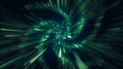 Spiral Tunnel Looping-Green Stock Footage