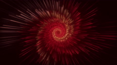 Particle Flower Tunnel Looping-Red Stock Footage