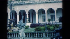 1950: a lovely building with lots of architectural details  Stock Footage
