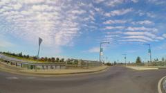 Vehicle POV driving past Glenelg Marina, South Australia. Stock Footage
