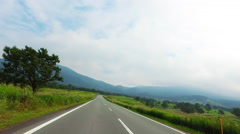 Driving a country road in Aso Stock Footage