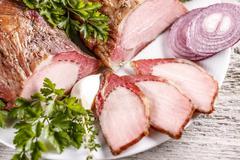 Smoked pork loin Stock Photos