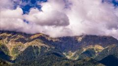 Ritsa Lake Mountains TimeLapse FHD Stock Footage