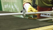 Glass workers in factory Stock Footage