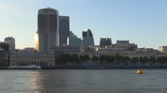 Tall and Modern Commercial Skyscrapers in City of London Financial District. Stock Footage