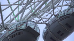 UK London Amazing Ferris Wheel Fun Attraction of Tourist All Over the World. Stock Footage