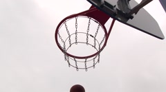 The basket ball flies Stock Footage