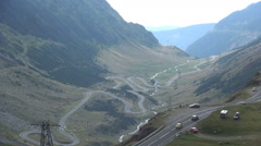 Holiday Trip on Mountain Roads and Car Traffic with Tourists Going to Travel. Stock Footage