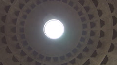 Pan View of Pantheon Dome a Famous Antique Construction from Ancient Rome. Stock Footage