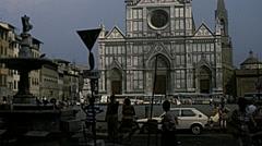 Florence 1979: church of Santa Croce Stock Footage