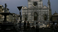 Florence 1979: church of Santa Croce Stock Footage