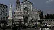 Florence 1979: church of Santa Maria Novella Stock Footage