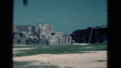 1950: a historic large wall or fort that appears to be made out of stone FLORIDA Stock Footage