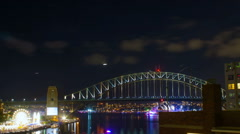 New Years Eve fireworks display on Sydney Stock Footage