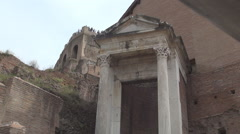 Touristic Attraction Antique Archaeology Roman Empire Building Ancient History.  Stock Footage