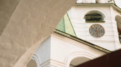The old clock on the Church in Suzdal Stock Footage
