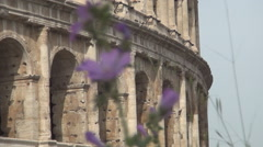 Roman Empire Biggest Amphitheater Colosseum Remains in Rome Center City. Stock Footage