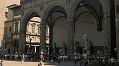 Florence 1979: Loggia dei Lanzi Stock Footage