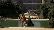 Florence 1979: people at Giardino di Boboli (Boboli garden) Stock Footage