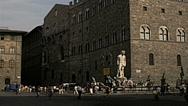 Florence 1979: Palazzo Vecchio and Piazza della Signoria Stock Footage