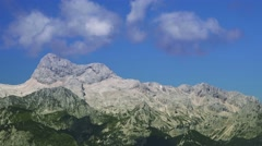 Triglav mountain peak, Slovenia Stock Footage