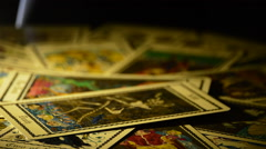 Death and Devil on tarot card Stock Footage