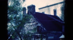 1950: a historic site featuring an old fort made of stone FLORIDA Stock Footage