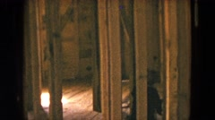 1954: people walking through the interior of an unfinished house HICKSVILLE, NEW Stock Footage
