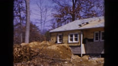 1954: the demolition and improvement of a single family residence HICKSVILLE Stock Footage