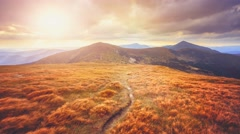 Mountain landscape. Slow motion 4K footage Stock Footage