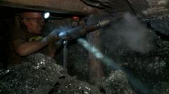 Miner produces coal, it is black gold Russia Stock Footage