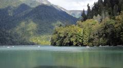 Ritsa Lake Part Stock Footage