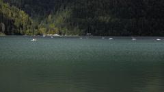 Ritsa Lake Panning Stock Footage