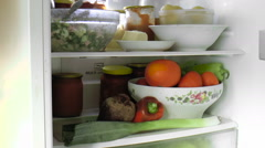 Refrigerator with food Stock Footage