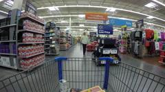 Woman shopping department store walking POV 4K Stock Footage