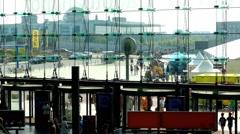 Hauptbahnhof is main railway station in Berlin Stock Footage