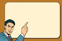 Businessman showing on Billboard background Stock Illustration