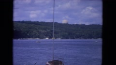 1972: vacation on the sea, or ocean or maybe lake, blue and amazing, awesome  Stock Footage