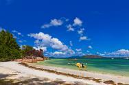Tropical island at Seychelles Stock Photos