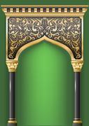 Fairy eastern arch Stock Illustration