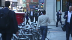 Crowd of Anonymous Office workers in London Stock Footage