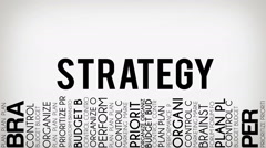 Strategy Typography Intro Stock Footage