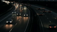 Evening commuter traffic on German highway Stock Footage