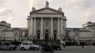 Tate Britain gallery and museum, Millbank, London; tilt Stock Footage