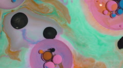 Beautiful combination of paint and ink in milk and oil. Stock Footage