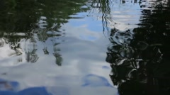 Outdoors Contemplative Reflective Water River Flow Silhouette Stock Footage