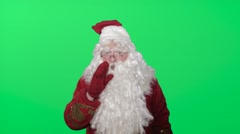 Ded Moroz (Santa Claus, Pere Noel) congratulates you with New year and Christmas Stock Footage