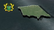 Upper West with Coat Of Arms Animation Map Stock Footage